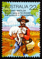 Postage stamp Australia 1980 Stealing Sheep
