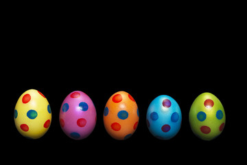 Line of colorful Easter Eggs