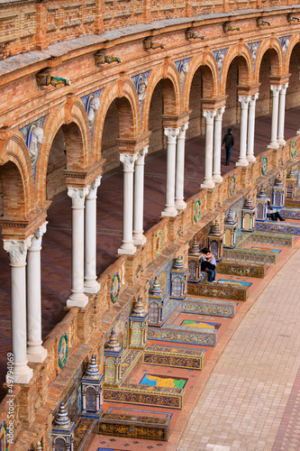 Plaza de Espana Colonnade in Seville