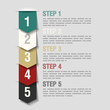 Arrows steps design template