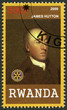 RWANDA - 2009: shows portrait of James Hutton (1726-1797)