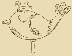 Doodle Bird Vector