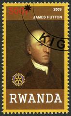 RWANDA - 2009: shows portrait of James Hutton (1726-1797)