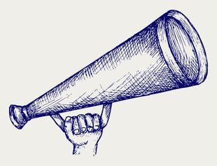 Megaphone. Doodle style