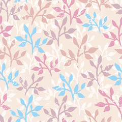 Tender twigs seamless pattern