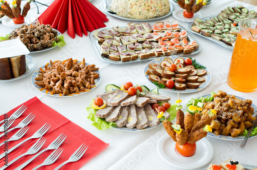 Catering food at a party. In Lithuania.