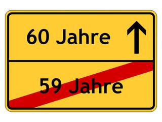 59 Jahre - 60 Jahre