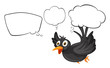 A black thinking bird