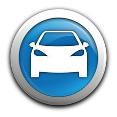 voiture sur bouton bleu