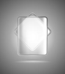 Transparent glass rectangles