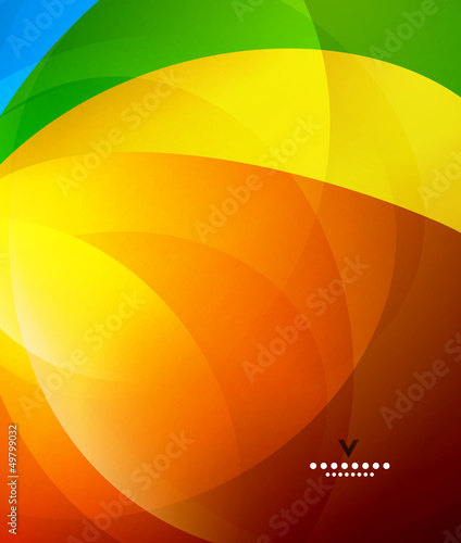 Colorful shiny abstract design template
