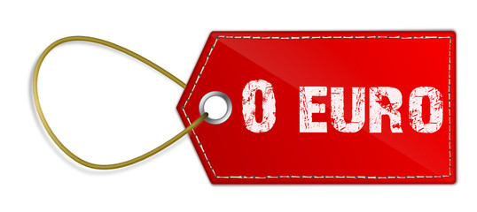 Preisschild Null Euro