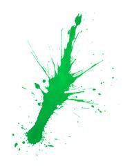 grüner Farbspritzer