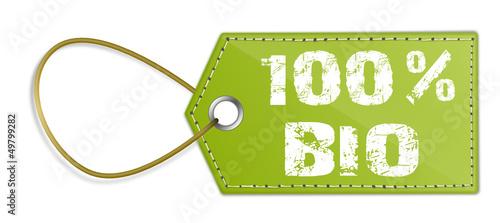 Schild 100% Bio