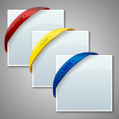 Set of Rubber Band Corner Banner Treatments