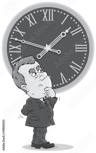 Bureaucrat thinking about  Daylight Saving Time