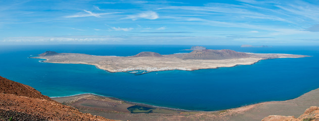 Vista Panoramica della Graciosa, Lanzarote