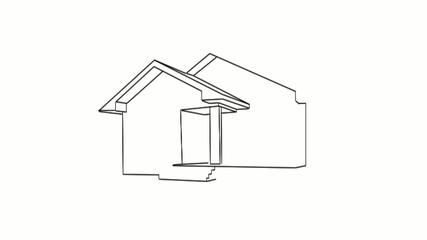 Dibujo de una casa en venta
