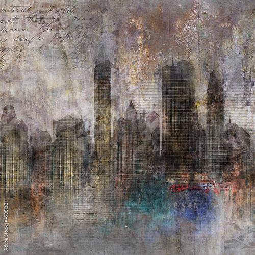 Fond ville grunge - 49801281