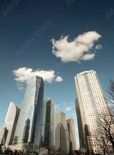 shanghai financial center under the sky