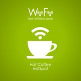 Fototapety Vector internet cafe green poster