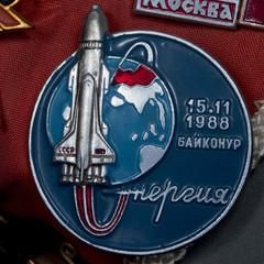 Vintage russian pin 1988 space commemoration