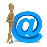 Dummy with e-mail symbol