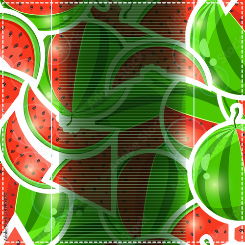 Fruit Watermelon Invitation Card