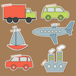 Set of transport stickers for babies