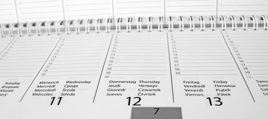 Terminkalender blanko DIN lang