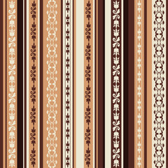 brown pattern with ornaments