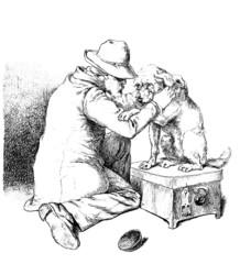 Blind Beggar & his Dog - Mendiant aveugle et son Chien