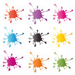 colored vector blots on the white background