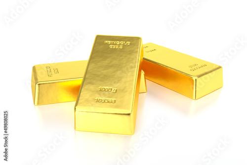 Drei Goldbarren