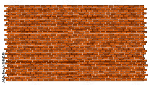 A vector illustration of red brick wall