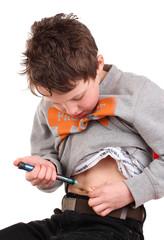 Kind mit Diabetes