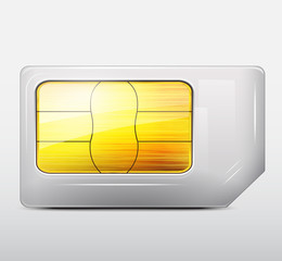 Vector sim card icon