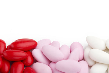 assortment of sugared almonds