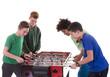 Gruppe Teenager spielt Kicker