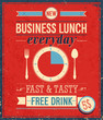Vintage Bussiness Lunch Poster...