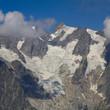 ghiacciaio sul monte bianco