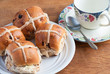 Easter Hot cross buns and a cup of tea