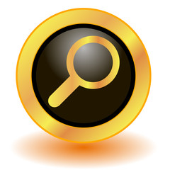 Gold magnifier button