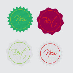 Best and new label retro Best and new label Vector