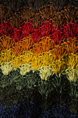 Colorful crochet tissue