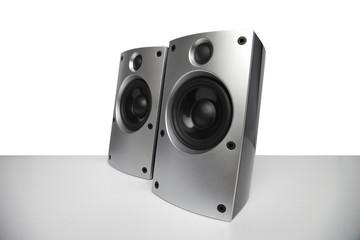 Lautsprecher in silber und tollen Design