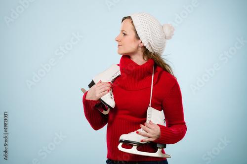 Woman and skates