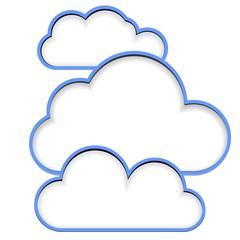 3  clouds cut blank