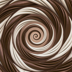 abstract chocolate cream spiral background © wacomka