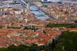 Vue aérienne de la ville de sète dans l'Hérault